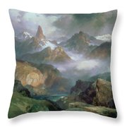 Index Peak Throw Pillow by Thomas Moran