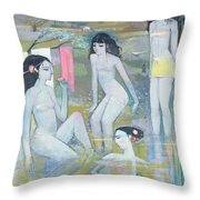 Indian Summer Throw Pillow by Endre Roder