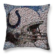 Indianapolis Colts Bottle Cap Mosaic Throw Pillow by Paul Van Scott