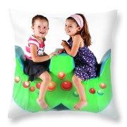 Indoor Playground Throw Pillow by Oren Shalev
