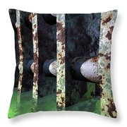 Industrial Disease Throw Pillow by Richard Rizzo