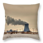 Industrialscape Throw Pillow by Evelina Kremsdorf