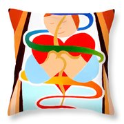 Inner Peace Throw Pillow by Jaison Cianelli