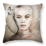 Inner World Throw Pillow by Jacky Gerritsen