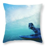 Inside The Wave Throw Pillow by Bob Abraham - Printscapes