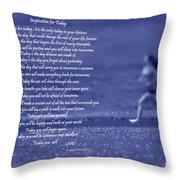 Inspiration For Today Runner  Throw Pillow by Cathy  Beharriell