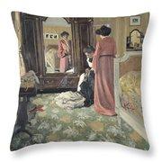 Interior Throw Pillow by Felix Edouard Vallotton