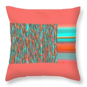 Interplay Of Warm And Cool Throw Pillow by Ben and Raisa Gertsberg