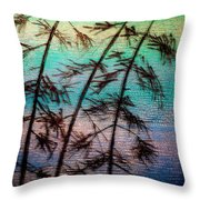 Into The Wind Throw Pillow by Rick Silas