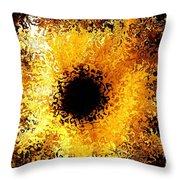 Iris Throw Pillow by Michael Garyet