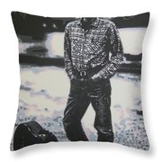 Is There No One Here That Knows Where Im At Throw Pillow by Luis Ludzska