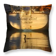 Island Girl Throw Pillow by David Lee Thompson