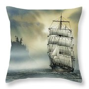 Island Mist Throw Pillow by James Williamson