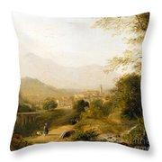 Italian Landscape Throw Pillow by Joseph William Allen