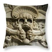 Italy, Florence, Deatil From San Throw Pillow by Keenpress