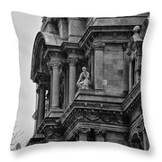 It's In The Details - Philadelphia City Hall Throw Pillow by Bill Cannon
