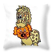 Izzy As Giraffe Throw Pillow by Jera Sky