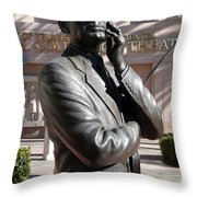 Jack Benny Throw Pillow by Jeff Lowe
