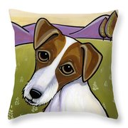 Jack Russell Throw Pillow by Leanne Wilkes