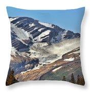 Jackson Glacier - Glacier National Park Mt Throw Pillow by Christine Till