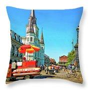 Jackson Square Throw Pillow by Steve Harrington