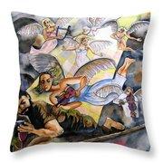 Jacob's Dream Throw Pillow by Guri Stark