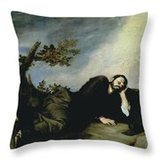 Jacobs Dream Throw Pillow by Jusepe de Ribera