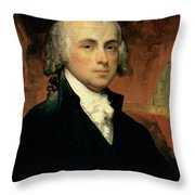 James Madison Throw Pillow by American School
