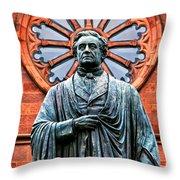 James Smithson Throw Pillow by Christopher Holmes