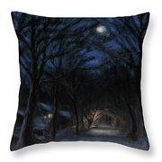 January Moon Throw Pillow by Sarah Yuster
