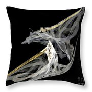 Japanese Aikido Warriors Throw Pillow by Ed Churchill