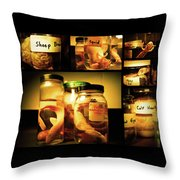 Jarred Collection I Throw Pillow by Rheann Earnest