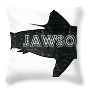 Jawsome Throw Pillow by Michelle Calkins