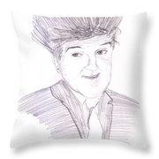 Jay Leno Hair Day Throw Pillow by M Valeriano
