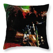 Jazz Miles Davis 1 Throw Pillow by Yuriy  Shevchuk