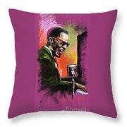 Jazz. Ray Charles.2. Throw Pillow by Yuriy  Shevchuk