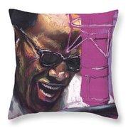 Jazz Ray Throw Pillow by Yuriy  Shevchuk