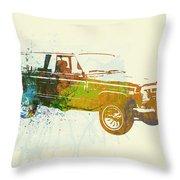 Jeep Wagoneer Throw Pillow by Naxart Studio
