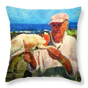 Jergens And Honey Throw Pillow by Michael Durst