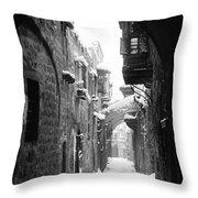 Jerusalem: Winter Throw Pillow by Granger