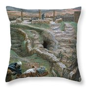 Jesus Alone On The Cross Throw Pillow by Tissot