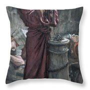 Jesus In Prison Throw Pillow by Tissot
