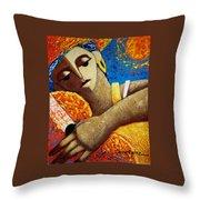 Jibara Y Sol Throw Pillow by Oscar Ortiz
