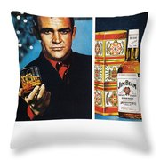 Jim Beam Ad, 1966 Throw Pillow by Granger