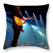 Joe Bonamassa 2 Throw Pillow by Peter Chilelli