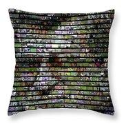 Joe Paterno Mosaic Throw Pillow by Paul Van Scott