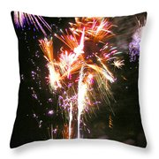 Joe's Fireworks Party 2 Throw Pillow by Charles Harden
