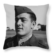 John Basilone Throw Pillow by War Is Hell Store