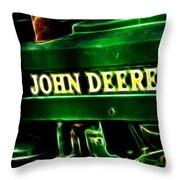 John Deere 2 Throw Pillow by Cheryl Young