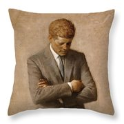 John F Kennedy Throw Pillow by War Is Hell Store